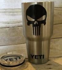 SKULL PUNISHER VINYL DECAL STICKER for YETI CUP TUMBLER Car Window COFFEE