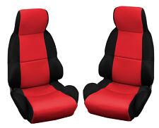 1989-1993 Corvette C4 Neoprene Standard Seat Covers - Black / Red 648012976881