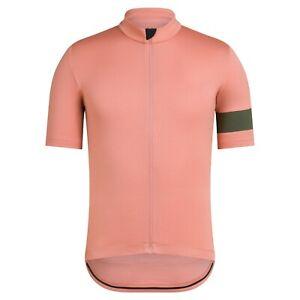 NEW Rapha Men's Cycling Classic Jersey II L Rose Green RCC Short Sleeves