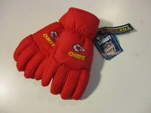 KANSAS CITY CHIEFS KC VTG WELLS LAMONT GAME DAY NFL THERMOFILL GLOVES NEW NWT XL