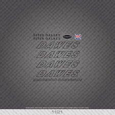 01121 Dawes Super Galaxy Bicycle Stickers - Decals - Transfers - Black