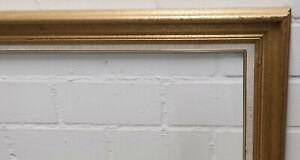 Holzrahmen gold weiß Falzmaß ca. 70,6x85,6 cm