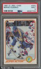 1981 O-Pee-Chee OPC Hockey #300 Bernie Federko St. Louis Blues PSA 9 MINT