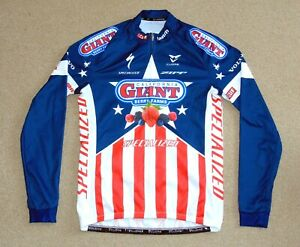 NEAR-PERFECT CALIFORNIA GIANT BERRY FARMS US CHAMPION L/S JERSEY. CUORE LARGE