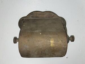 RARE AUTHENTIC ANTIQUE PULLMAN SILVER CAR CO. RAILROAD BRASS TOILET PAPER HOLDER