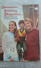 1970s Woolworth Knitting Magazine Issue 3 Knitting and Crochet Patterns Adverts
