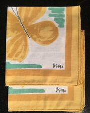 2 Vintage Vera Cotton Ladybug Napkins Green Teal Gold Butterfly Neumann