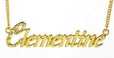 Collier Prénom CLEMENTINE 18K Plaqué or - Personnalisé Meilleur ami Anniversaire