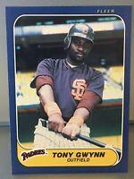 💥1986 Fleer Tony Gwynn HOF🏆 #323 San Diego Padres⚾PACK FRESH💲