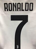 Adidas Juventus Home 20-21 White Black Gold Ronaldo #7 Jersey Size S Men's Only