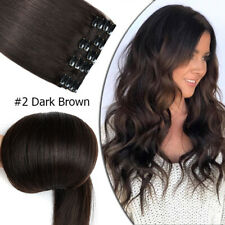 """CLEARANCE Clip In 100% Real Remy Human Hair Extensions Full Head Highlight 8-24"""""""