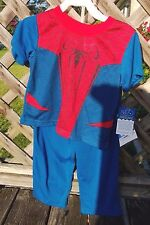 Spiderman Pajamas 2-pc Short Sleeve Red/Blue Toddler 3t NWT Marvel 100% Cotton