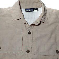 Patagonia Hiking Safari Button Front Shirt Size Large