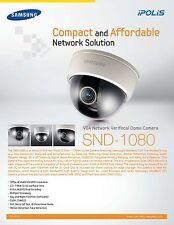 Samsung SND-1080 VGA Network Varifocal Dome Security Camera (NTSC) - NEW IN BOX