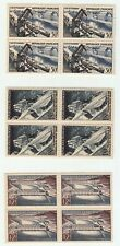FRANCE 1956 TECHNICAL ACHIEVEMENTS IN BLOCKS OF 4  UNMOUNTED MINT