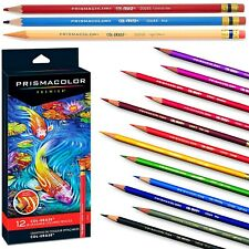 12 Colours PRISMACOLOR Premier Coloured Pencils Col-Erase Erasable Set Colouring