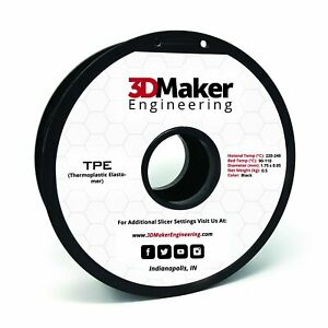 TPE Pro Series Flexible 3D Printer Filament - 3DMaker Engineering