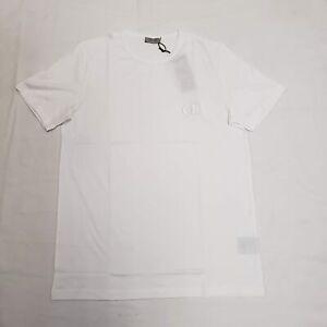 Christian dior CD Icon Coton Col Rond T-Shirt Blanc Neuf