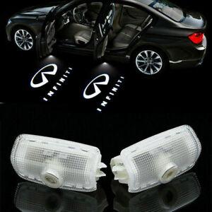2x Logo LED Door Light Laser Projector for INFINITI FX37 FX35 Q50 M35 G37 QX80