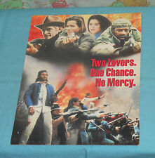vintage TRAPPER COUNTY WAR video store ADVERTISING BROCHURE