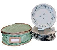 "Johann Haviland Bavaria Germany Blue Garland 10"" Dinner Plates W/ Cover 8 Plates"