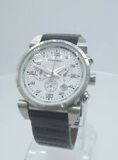Fossil Blue CH2493 men's chrono watch white dial CH-2493 analog 10 ATM