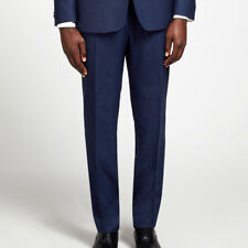 Richard James Men's Indigo Flannel Wool Suit Trousers, 38 Short, £175.00