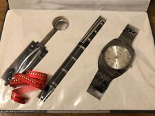 G&B TIME MENS WATCH AND PEN AND KEYRING SET NEW UNOPENED