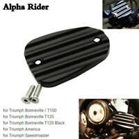 For Triumph Bonneville T100 T120 Black Alloy Master Cylinder Cover Guard Cap