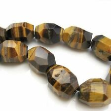 Tiger Eye Nature Stone-Faceted Nuggets 25X18 Large Gemstone Beads (per strand)