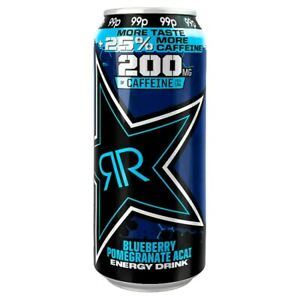 24 x Rockstar Xdurance Blueberry Pomegranate Acai Energy Drink 500ml Red Monster
