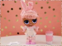 LOL Surprise Hairgoals Hair Goals Doll Snow Bunny Color Changer Pink New Sealed