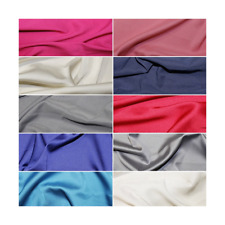 Soft Touch Satin Fabric Silk Look & Feel Spandex Stretch 145cm Wide Dress
