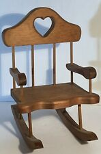 "Wooden Rocking Chair for 18"" Dolls - Fits American Girl Dolls!"