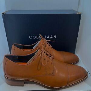 Men's Cole Haan Lenox Hill Cap Toe Oxford Leather Dress Shoes Brown - 11 Wide