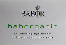 Babor Baborganic Revitalizing Eye Cream 15ml BRAND NEW