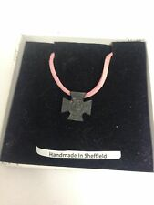 Victoria Cross WE-VCPIN Emblem on a pink Cord Necklace Handmade 41CM