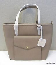 NEW MICHAEL KORS Jet Set Item Large Leather Pocket Tote, Color Dark Dune