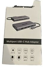 Hiearcool USB C Hub, MacBook Pro Adapter USB C Dongle, 7 in 1 USB C to HD