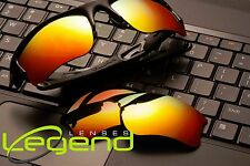 A38 Fire/Gold POLARIZED Replacement Legend Lenses For Oakley FLAK JACKET XLJ