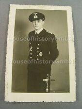 6957, TOP Portraitfoto Obermaschinist, Hilfkreuzer, Kriegsmarine Offiziersdolch