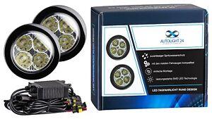 LED Motorrad ZusatzscheinwerferNebelscheinwerfer Tagfahrlicht 8Watt 6000 Kelvin