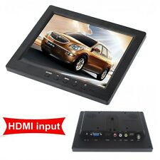 "Portable 8"" 250cd/m Color Display 1024*768 Monitor VGA BNC Vedio HDMI For PC DVD"
