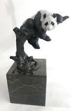 """Panda Bear Mother Bookend Book End""""Pride & Joy"""" Bronze Sculpture Figurine Figure"""