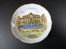 Rom Italien Trevi Brunnen Magnet Porzellan Teller,6 cm Plate Travel Souvenir,Neu