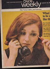 Star Weekly Magazine Motorcycles Canadian Rockies Genius August 30 1969
