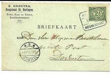 Treinblokstempel Harlingen - Nieuweschans C 1915 naar Deventer