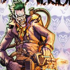 "DC UNIVERSE ONLINE Signed ART PRINT Game JOKER Batman DCUO 19x13"" SDCC 2011 NEW"