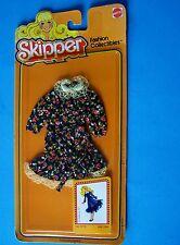 1981 Skipper Black Floral Print Doll Dress Fashion Collectibles #3778 New Nrfp