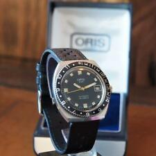 Stunning Ink-Blue dial 1970s ORIS Star Automatic Divers Watch + original box.